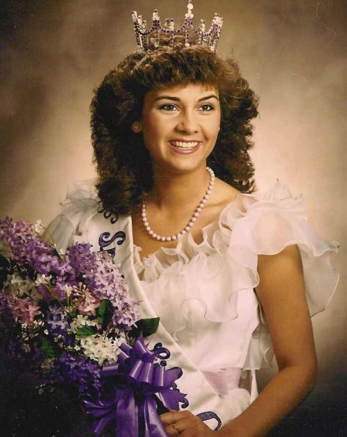 Portrait of Amy from 1985 as the Spokane Lilac Queen.